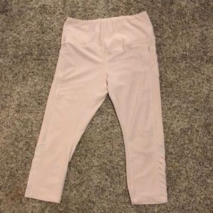 RBX pink capris with a pocket on each side